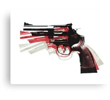 Revolver on White Canvas Print