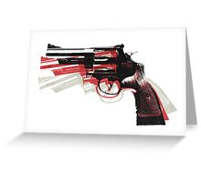 Revolver on White Greeting Card