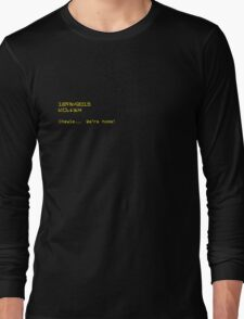 We're Home + Datestamp in Aurebesh Long Sleeve T-Shirt