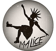 Vintage Malice Logo Photographic Print
