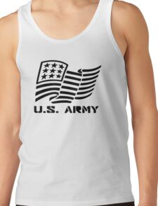 U.S. ARMY MILITARY AMERICAN FLAG SOLDIER Tank Top