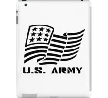 U.S. ARMY MILITARY AMERICAN FLAG SOLDIER iPad Case/Skin