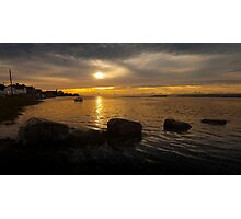 Penclawdd sunset Photographic Print