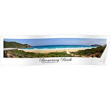 Panorama of Boomerang Beach Poster