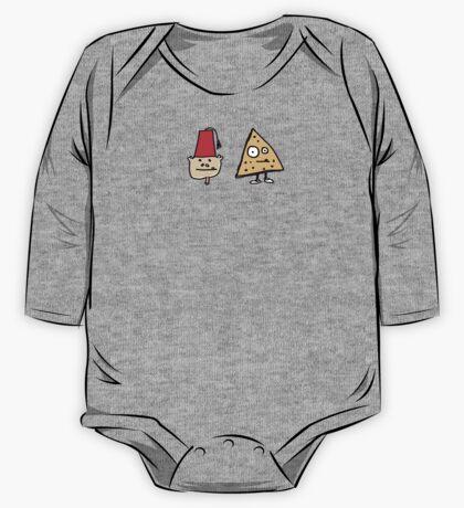 Monkey Fez Dorito T shirt of Spiffyness and Nacho Cheez One Piece - Long Sleeve