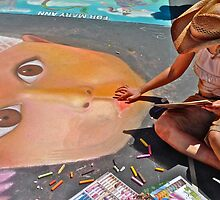 Italian Street-painting Fair, San Rafael, Marin County, 2010 by Scott Johnson