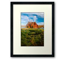 Green Geyser Framed Print