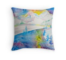 Every frozen lake tells a story, every winter sunrise does the same... Throw Pillow