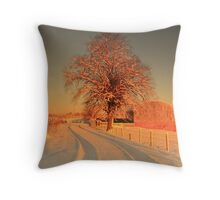 The lone tree. Throw Pillow