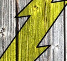 Flash Wood Logo Sticker