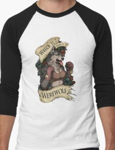 WRECK IT LIKE A WEREWOLF- SFW Men's Baseball ¾ T-Shirt