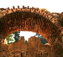 Arch at Alexandria's Roman Amphitheater by Laurel Talabere