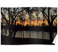 Stillness - River Murray at sunset Poster