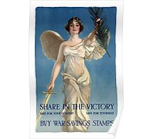 Share In The Victory -- Buy War Savings Stamps Poster