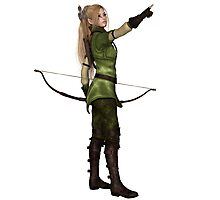 Blonde Female Elf Archer, Pointing Photographic Print