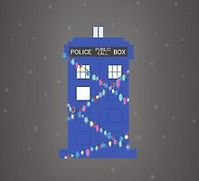 tardis at christmas (snowy) by julierab