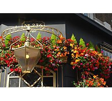 Pub and Flowers Photographic Print