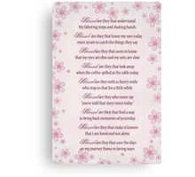 Blessed Are They... Canvas Print