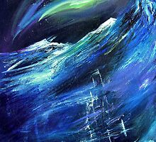 Polaris - Ship in an Arctic Storm Painting by Genevieve  Cseh