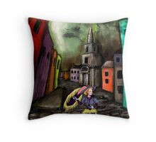 The Lady on the Prowl Throw Pillow