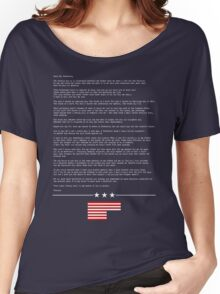 FRANK UNDERWOOD'S LETTER - HOUSE OF CARDS Women's Relaxed Fit T-Shirt