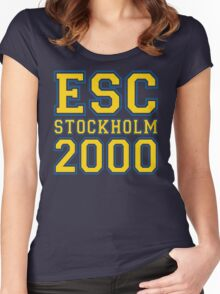ESC Stockholm 2000 [Eurovision] Women's Fitted Scoop T-Shirt