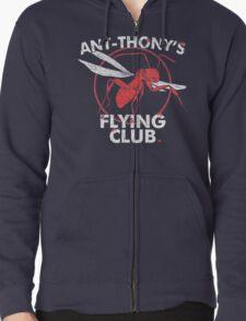 Ant Flying Club Zipped Hoodie