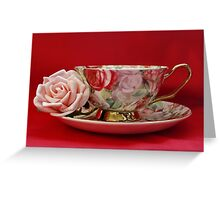 An English Cup of Tea Greeting Card