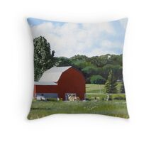 Michigan Barn #1 Throw Pillow