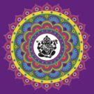 Rangoli Ganesh Mandala by shantitees