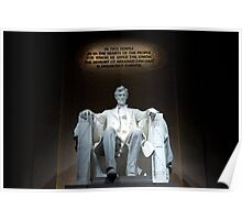 The Lincoln Memorial in Washington, D.C. Poster