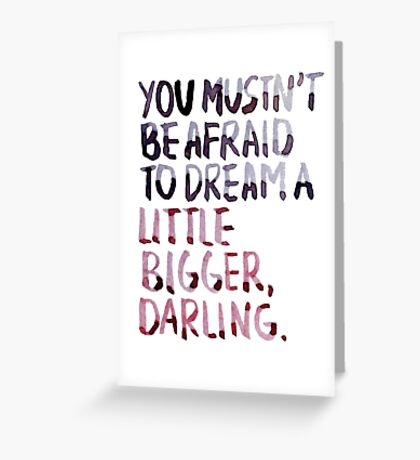 """Inception: """"Dream A Little Bigger"""" Greeting Card"""
