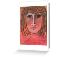 Pink Lady Greeting Card