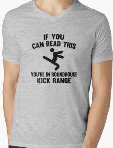 Roundhouse Kick Range Mens V-Neck T-Shirt