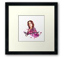 Lana Parrilla / Autograph  Framed Print