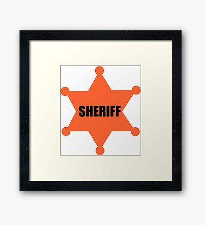 Sheriff's Badge Framed Print
