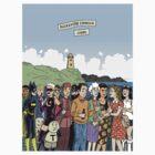 Hicksville Comics Beach Party by Dylan Horrocks