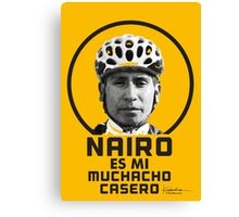 Nairo es mi muchacho casero / Nairo is My Homeboy (Spanish) : TDF Yellow Canvas Print