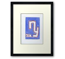 Giants New Year Framed Print