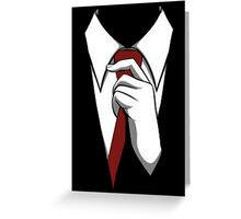 Agent 47 Tie Greeting Card
