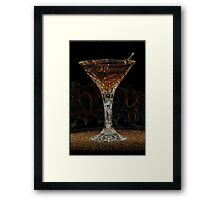 Martini X Framed Print