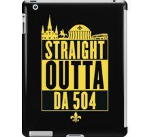 Straight Outta Da 504 (Black and Gold) iPad Case/Skin