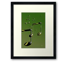 More Notes Framed Print