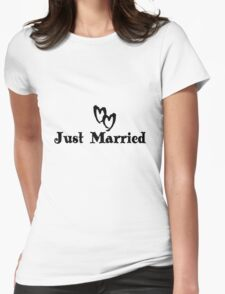 Just married bride and groom geek funny nerd Womens Fitted T-Shirt