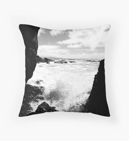Muir Beach BW Throw Pillow