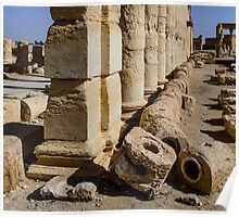 2000 year old interlocking stone water pipes at Palmyra .... being destroyed Poster