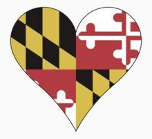Maryland Flag Heart Shape by canossagraphics