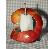 Apple Peeled Photographic Print