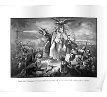 The Outbreak Of Rebellion In The United States 1861 Poster