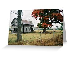 Old Ozark House 3 Greeting Card